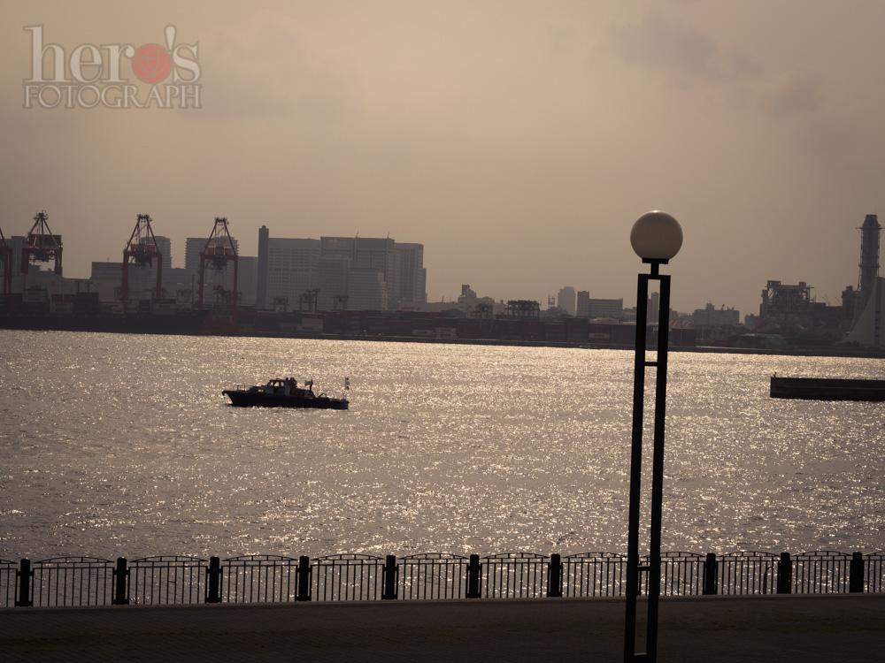 青海南ふ頭公園から湾を望む