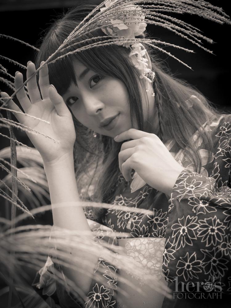 愛しのまりん_浴衣_モノクロ_07