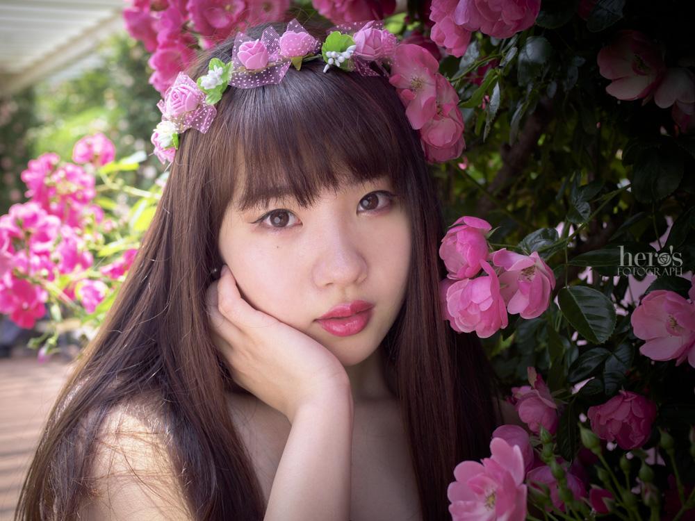 朝花和りいこ_宇佐川りかこ_薔薇ポートレート_11